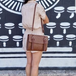 Host Pick!! Weave Print Faux Leather Crossbody